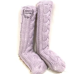 Juicy Couture sweater knit boots lilac one size